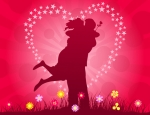 couple heart and kiss